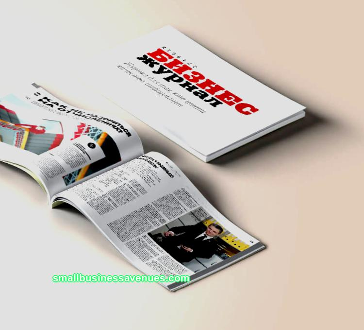 Business plan for a glossy magazine