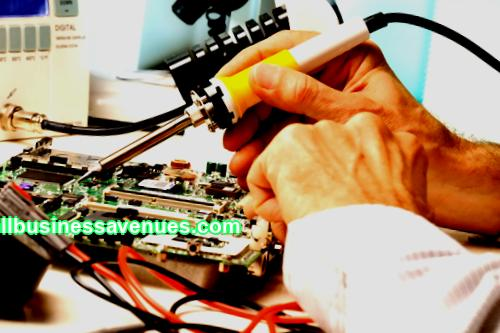 Business idea of selling parts from old electronics