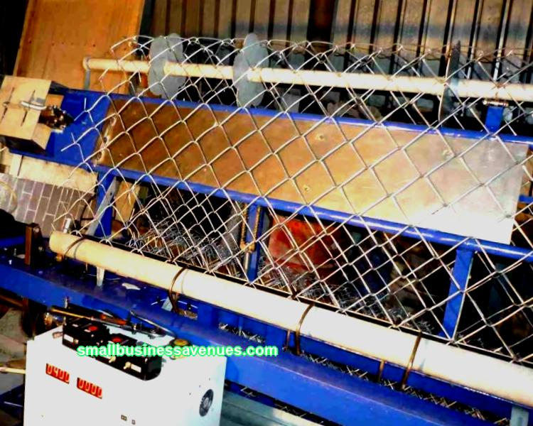 Production of chain-link mesh is a so-called seasonal business. If desired, the chain-link mesh production business can be run all year round.