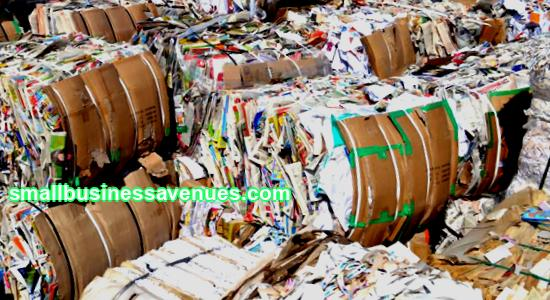 Waste paper recycling as a business