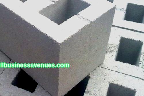 Production of cinder blocks