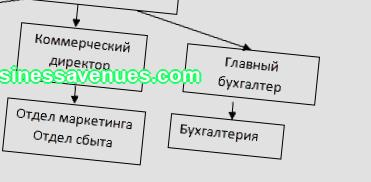 Business plan section organizational chart